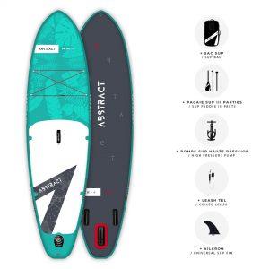 Planche de Paddle gonflable Abstract Palma 2021 Topaze avec ses accessoires inclus
