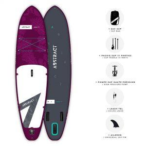 Planche de Paddle gonflable Abstract Coral 2021 Saphir avec ses accessoires inclus