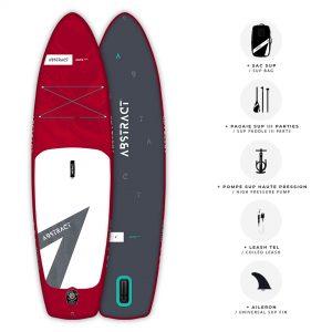 Planche de Paddle gonflable Abstract Jaws 2021 Rubis avec ses accessoires inclus