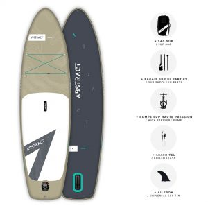 Planche de Paddle gonflable Abstract Jaws 2021 Sable avec ses accessoires inclus