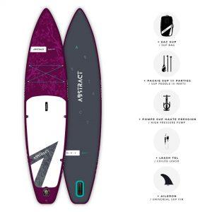 Planche de Paddle gonflable Abstract Saku 2021 Saphir avec ses accessoires inclus