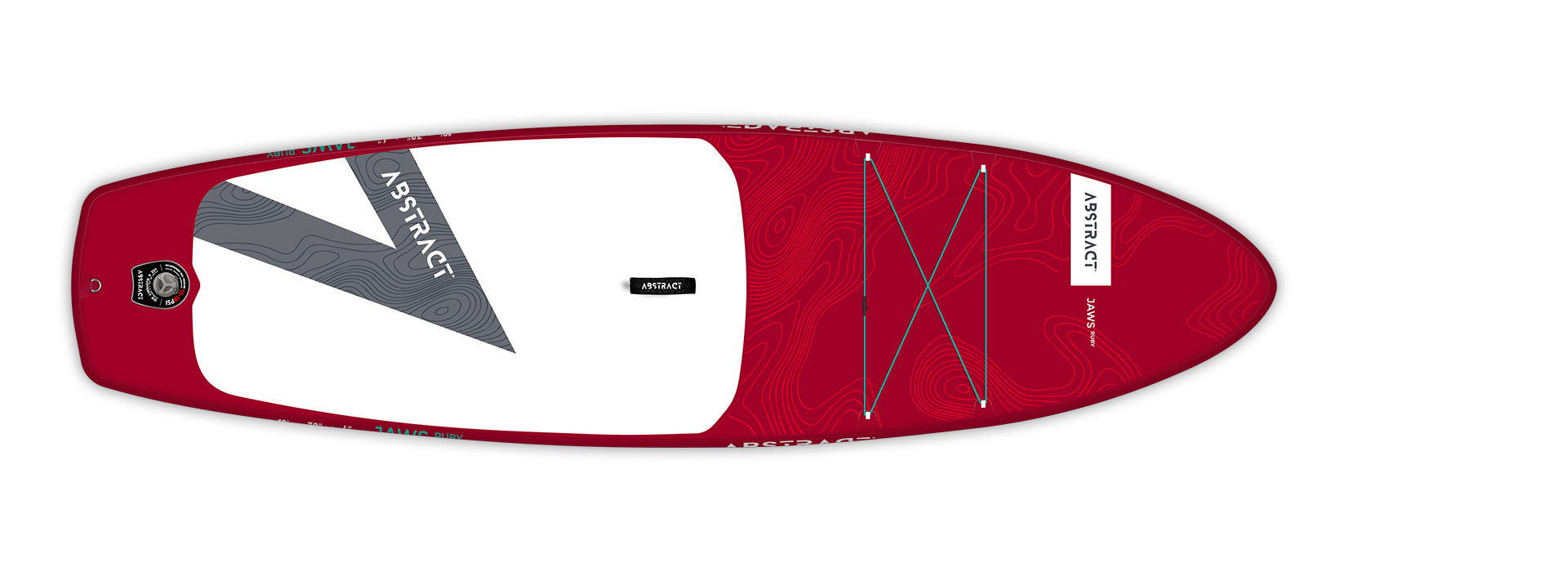 Planche de paddle Board gonflable Jaws Ruby (Rouge) Abstract 2021