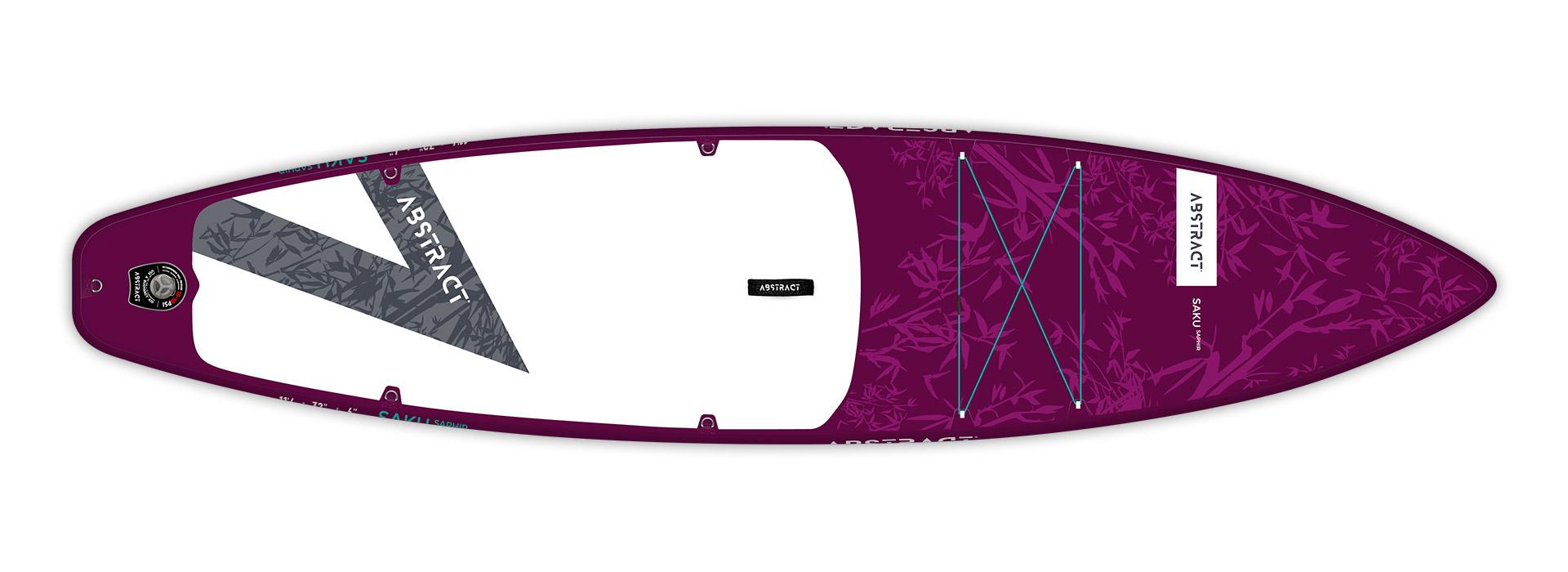 Planche de paddle Board gonflable Saku Saphir (violet) Abstract 2021